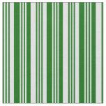 [ Thumbnail: Dark Green & Lavender Colored Stripes Fabric ]