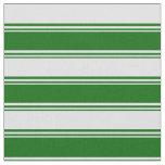 [ Thumbnail: Dark Green & Lavender Lined Pattern Fabric ]