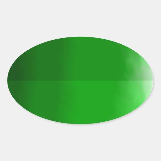 Dark Green Leaf Oval Sticker : Zazzle