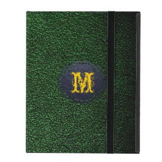 Dark Green Leather iPad Folio Cases