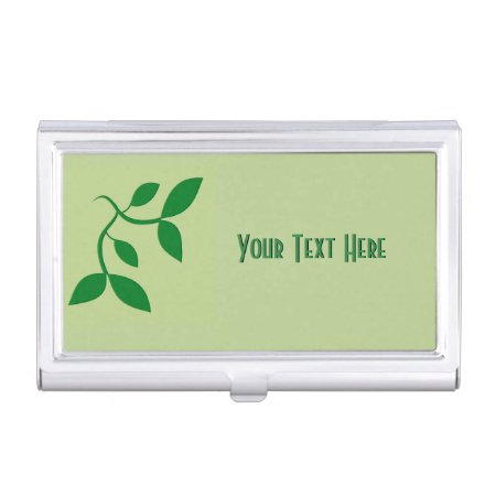 Dark Green Leaves Personalized