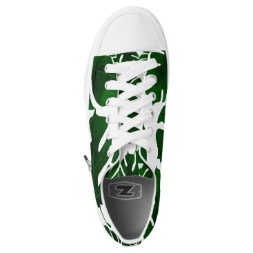 Beach Themed Dark Green Leaves Tropical Palm Summer Tropics Low-Top Sneakers