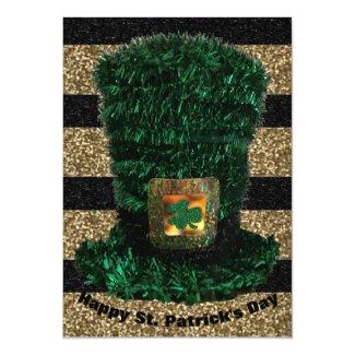 Dark Green Leprechaun Hat Magnetic Invitation