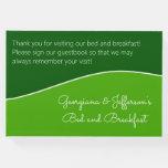 [ Thumbnail: Dark Green, Light Green Bed & Breakfast Guestbook ]