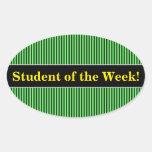 [ Thumbnail: Dark Green & Light Green Stripes/Lines Pattern Sticker ]