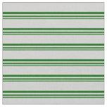 [ Thumbnail: Dark Green & Light Grey Lines/Stripes Pattern Fabric ]