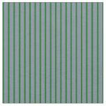 [ Thumbnail: Dark Green & Light Slate Gray Pattern Fabric ]