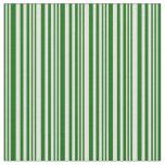 [ Thumbnail: Dark Green & Light Yellow Stripes Pattern Fabric ]