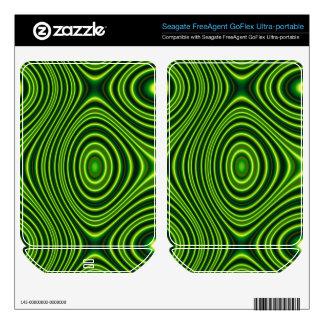 Dark Green Line Pattern FreeAgent GoFlex Decals