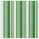 [ Thumbnail: Dark Green & Mint Cream Colored Stripes Fabric ]