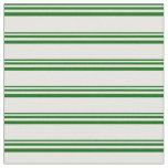 [ Thumbnail: Dark Green & Mint Cream Colored Stripes Pattern Fabric ]