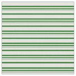 [ Thumbnail: Dark Green & Mint Cream Stripes Pattern Fabric ]