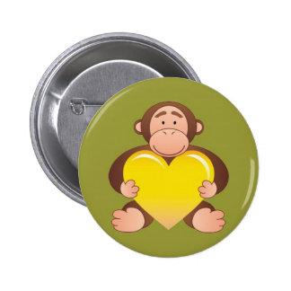 Dark Green Monty Button