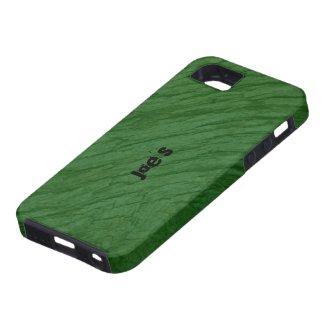 Dark Green Oak Bark iPhone 5 Cases