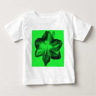 Dark Green on Light Green Amaryllis Baby T-Shirt