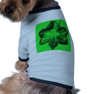 Dark Green on Light Green Amaryllis zazzle_petshirt