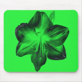 Dark Green on Light Green Amaryllis zazzle_mousepad