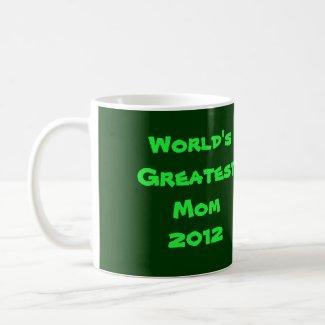 Dark Green on Light Green Amaryllis zazzle_mug