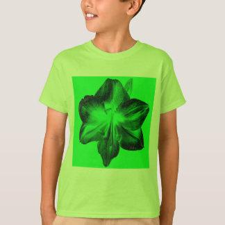 Dark Green on Light Green Amaryllis T-Shirt