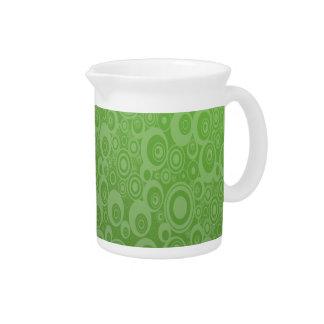 Dark Green Pattern Beverage Pitcher