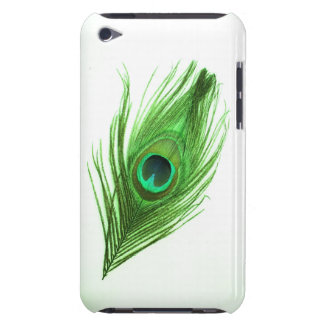 Dark Green Peacock Feather iPod Barely There Case iPod Touch Covers