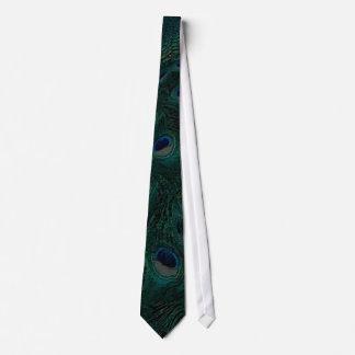 Dark Green Peacock Tie