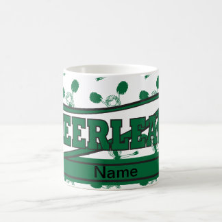 Dark Green Personalize Cheerleader Mugs
