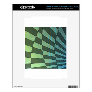 Dark Green Plaid Design with Linear Angles NOOK Skins