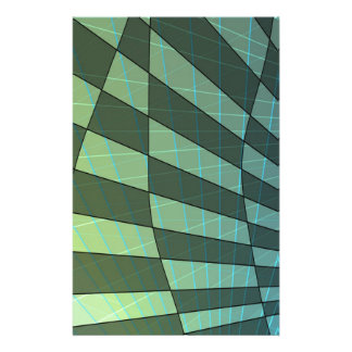 Dark Green Plaid Design with Linear Angles Personalized Stationery