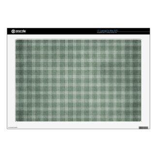 """Dark Green Plaid 17"""" Laptop Skins"""