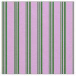 [ Thumbnail: Dark Green & Plum Pattern of Stripes Fabric ]