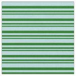 [ Thumbnail: Dark Green & Powder Blue Colored Stripes Fabric ]