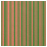 [ Thumbnail: Dark Green & Red Lined/Striped Pattern Fabric ]
