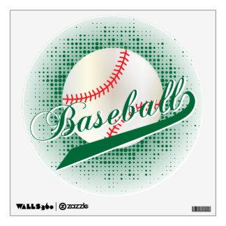 Dark Green Retro Baseball Style Wall Sticker
