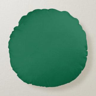 Dark Green Round Pillow