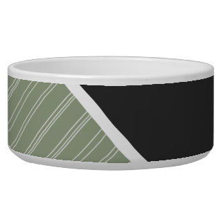 Dark Green & Sage Color Pet Food Bowls
