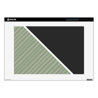 "Dark Green & Sage Color Decals For 15"" Laptops"