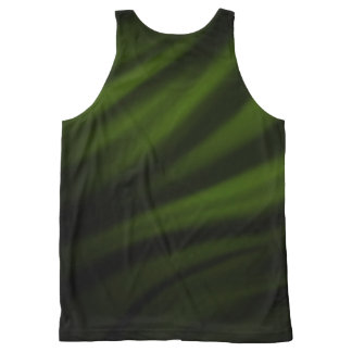 Dark Green Satin Faded Tank Top - Green with Envy All-Over Print Tank Top