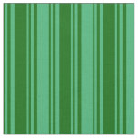 [ Thumbnail: Dark Green & Sea Green Colored Stripes Pattern Fabric ]
