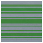 [ Thumbnail: Dark Green & Slate Gray Colored Pattern Fabric ]