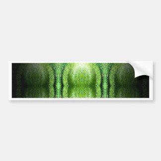 Dark Green Snake Skin Bumper Sticker