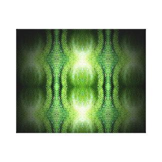 Dark Green Snake Skin Canvas Prints