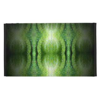 Dark Green Snake Skin iPad Folio Cases