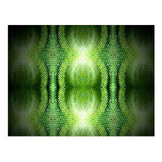 Dark Green Snake Skin Postcard
