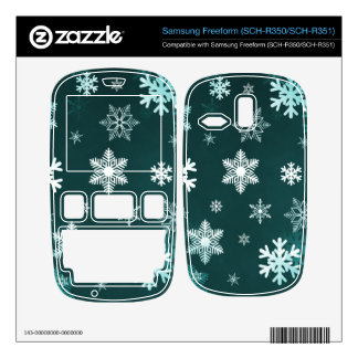 Dark Green Snowflakes Samsung Freeform Decal