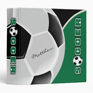 Dark Green | Soccer Sport  | DIY Name Binders