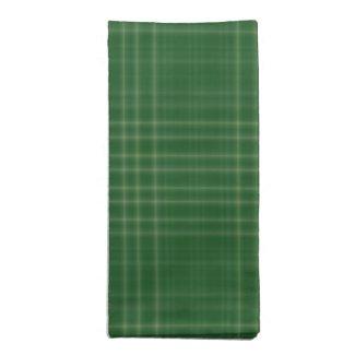 Dark Green Soft Plaid Cloth Napkins