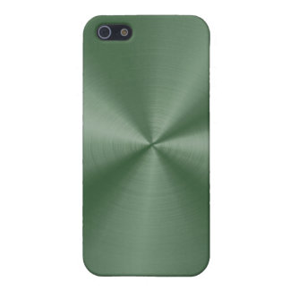 Dark Green Stainless Steel  iPhone 5/5S Case