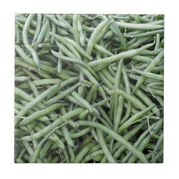 Dark Green String Beans Tile
