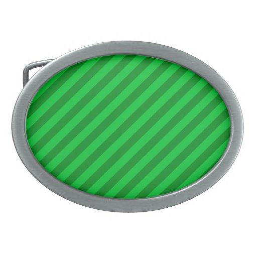 Dark Green Stripe Pattern. Belt Buckle